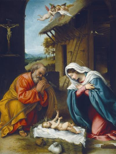 The Nativity, 1523-Lorenzo Lotto-Giclee Print