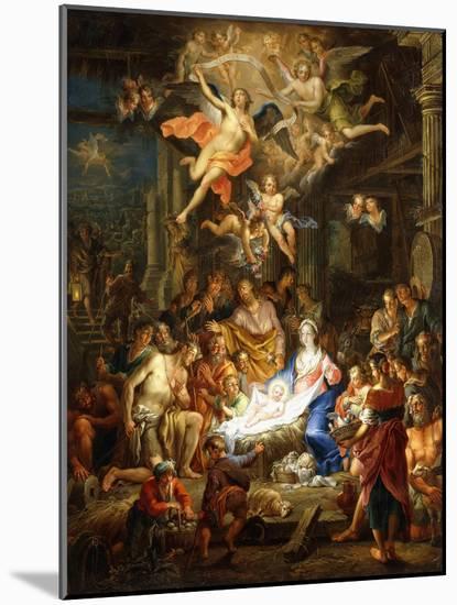 The Nativity, 1741-Franz Christoph Janneck-Mounted Giclee Print