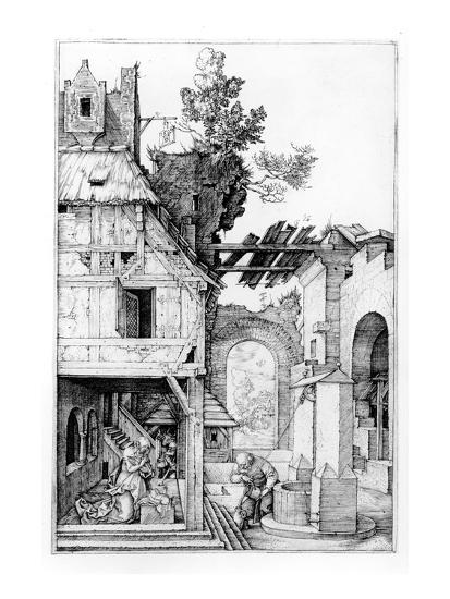 The Nativity, C.1504 (Engraving)-Albrecht D?rer-Premium Giclee Print