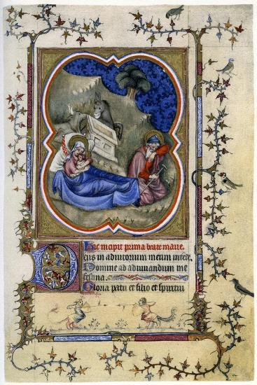 The Nativity, from a Book of Hours and Missal C1370-Maitre Aux Boquetaux-Giclee Print
