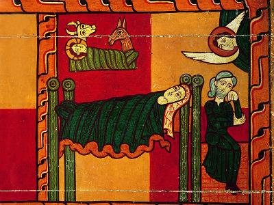 The Nativity, from an Altarpiece, Catalan--Giclee Print