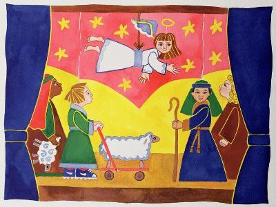 The Nativity Play-Cathy Baxter-Giclee Print