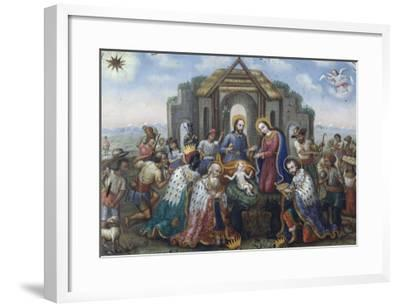 The Nativity with the Adoration of the Magi and Shepherds, 18th Century--Framed Giclee Print