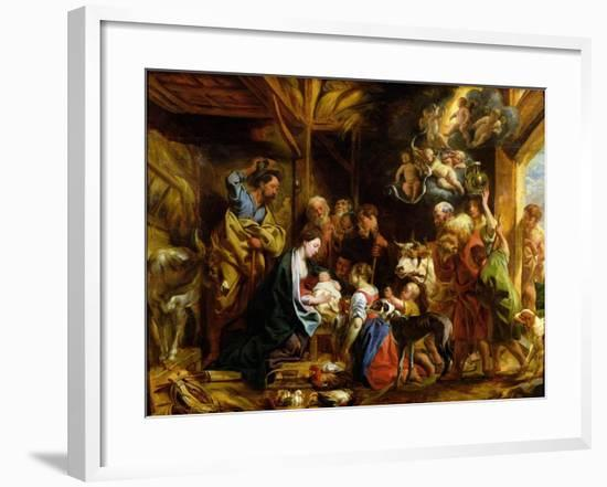 The Nativity-Jacob Jordaens-Framed Giclee Print