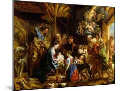 The Nativity-Jacob Jordaens-Mounted Giclee Print