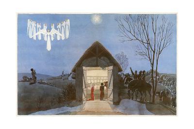 The Nativity-AE Marty-Giclee Print