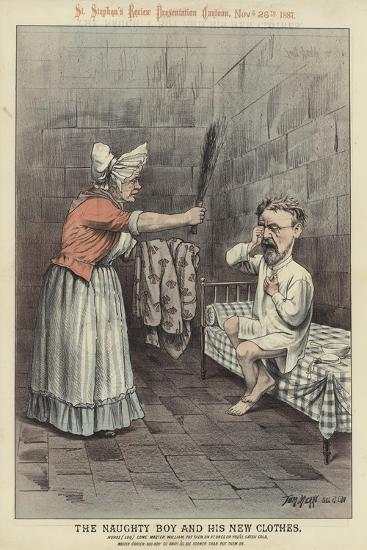 The Naughty Boy and His New Clothes-Tom Merry-Giclee Print