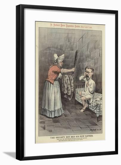 The Naughty Boy and His New Clothes-Tom Merry-Framed Giclee Print