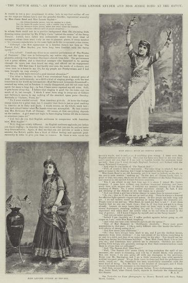The Nautch Girl, an Interview with Miss Lenore Snyder and Miss Jessie Bond at the Savoy--Giclee Print