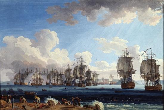 The Naval Battle of Chesma on 5 July 1770, 18th Century-Jacob Philipp Hackert-Giclee Print