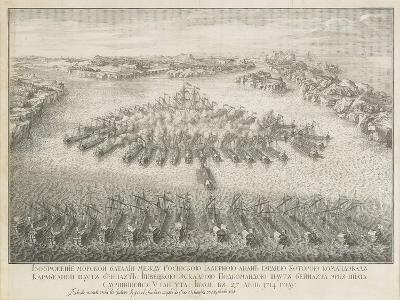 The Naval Battle of Gangut on July 27, 1714-Nicolas de Larmessin-Giclee Print