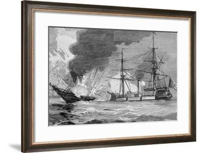 The Naval Battle of Iquique--Framed Giclee Print