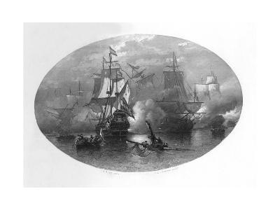 The Naval Battle of Sole Bay, 1672-CL van Kesteren-Giclee Print