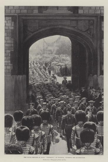The Naval Brigade of HMS Powerful at Windsor, Entering the Quadrangle--Giclee Print