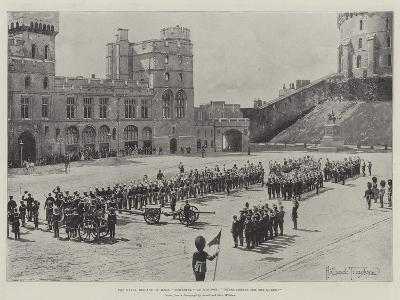 The Naval Brigade of HMS Powerful at Windsor, Three Cheers for the Queen!-Joseph Holland Tringham-Giclee Print
