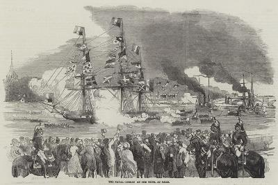 The Naval Combat on the Seine, at Paris--Giclee Print
