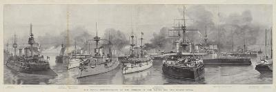 The Naval Demonstration at the Opening of the North Sea and Baltic Canal--Giclee Print