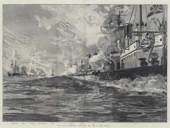 The Naval Manoeuvres, Action Off the Isle of Man, 3 August-William Heysham Overend-Giclee Print