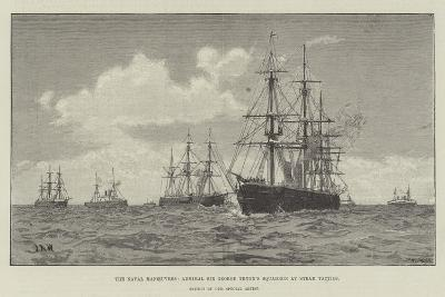 The Naval Manoeuvres, Admiral Sir George Tryon's Squadron at Steam Tactics--Giclee Print