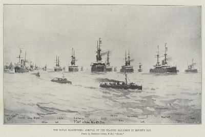 The Naval Manoeuvres, Arrival of the Channel Squadron in Mount's Bay--Giclee Print