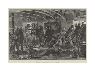 The Naval Manoeuvres, Coaling an Ironclad-William Heysham Overend-Giclee Print