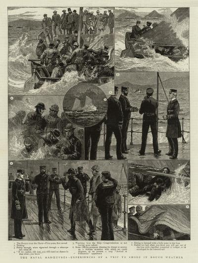 The Naval Manoeuvres Experiences of a Trip to Shore in Rough Weather--Giclee Print