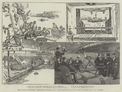 The Naval Manoeuvres, Sketches on Board HMS Northumberland-William Heysham Overend-Giclee Print