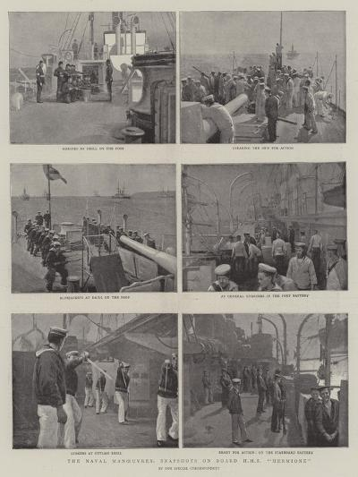 The Naval Manoeuvres, Snapshots on Board HMS Hermione--Giclee Print