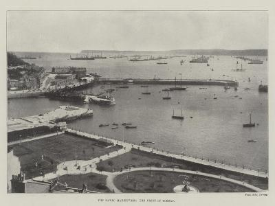 The Naval Manoeuvres, the Fleet in Torbay--Giclee Print