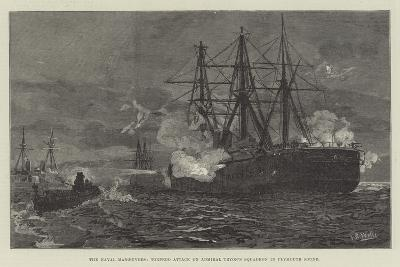 The Naval Manoeuvres, Torpedo Attack on Admiral Tryon's Squadron in Plymouth Sound--Giclee Print