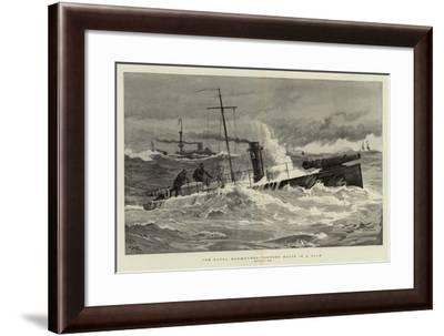 The Naval Manoeuvres, Torpedo Boats in a Gale-Joseph Nash-Framed Giclee Print