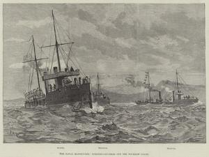 The Naval Manoeuvres, Torpedo-Catchers Off the Wicklow Coast