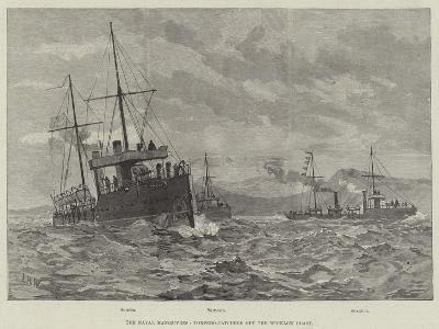 The Naval Manoeuvres, Torpedo-Catchers Off the Wicklow Coast--Giclee Print