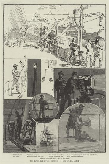The Naval Manoeuvres-William Heysham Overend-Giclee Print