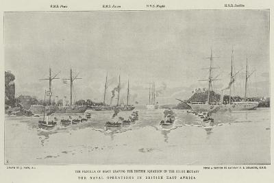 The Naval Operations in British East Africa-Joseph Nash-Giclee Print