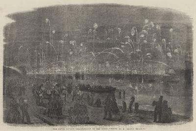 The Naval Review, Illumination of the Fleet-Richard Principal Leitch-Giclee Print