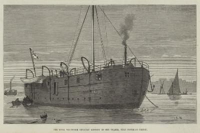 The Naval Volunteer Gun-Boat Rainbow on the Thames, Near Waterloo Bridge--Giclee Print