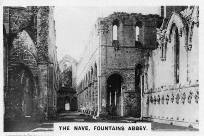 The Nave, Fountains Abbey, North Yorkshire, C1920S--Giclee Print