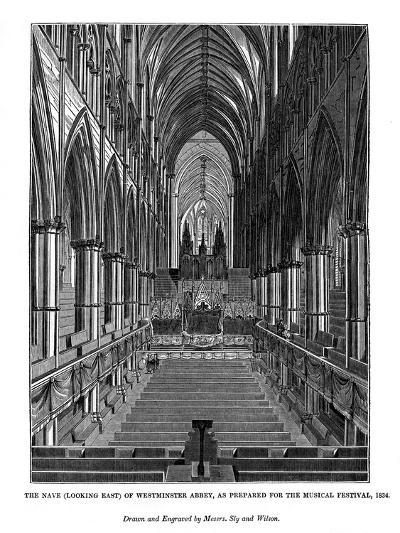 The Nave (Looking Eas) of Westminster Abbey- Messrs Sly and Wilson-Giclee Print