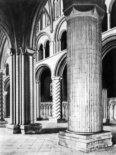 The Nave of Durham Cathedral, 19th Century--Giclee Print