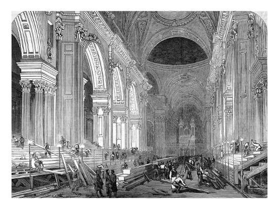 The Nave of St. Paul's Cathedral, London, 1852--Giclee Print