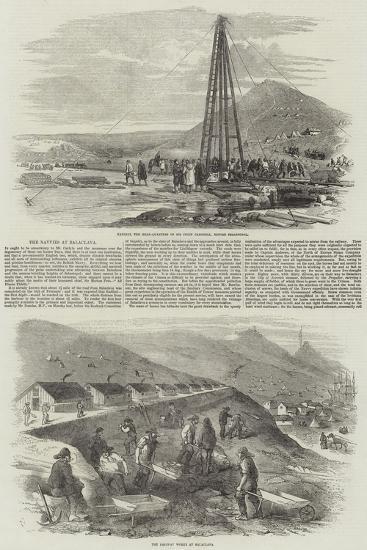 The Navvies at Balaclava-Robert Thomas Landells-Giclee Print