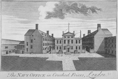 The Navy Office in Crutched Friars, City of London, 1720--Giclee Print