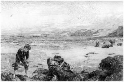 The Nearest Way to School, C1880-1882-Otto Theodor Leyde-Giclee Print