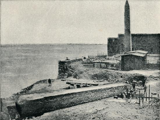 'The Needle lying as it fell at Alexandria', 1877, (1910)-Unknown-Photographic Print