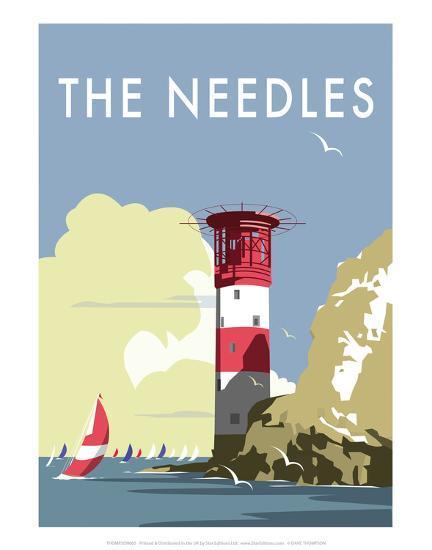 The Needles - Dave Thompson Contemporary Travel Print-Dave Thompson-Art Print