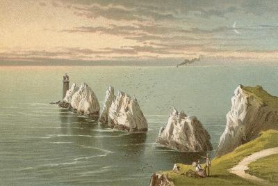 The Needles - Isle of Wight-English School-Giclee Print