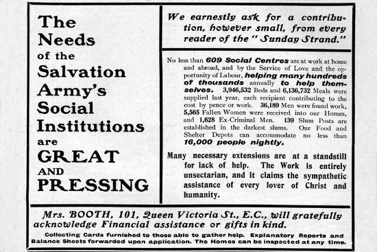 'The Needs of the Salvation Army's Social Institutions are Great and Pressing'', 1901-Unknown-Giclee Print