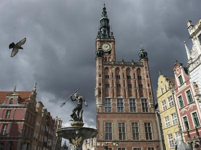 The Neptune Fountain in Gdansk's Main Thoroughfare, the Royal Way-Keenpress-Photographic Print