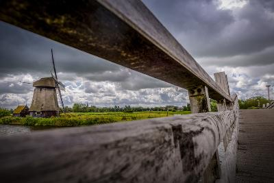 The Netherlands, Channel, Canal, Mill, Windmill-Ingo Boelter-Photographic Print